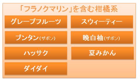 フラノクマリンを含む柑橘系