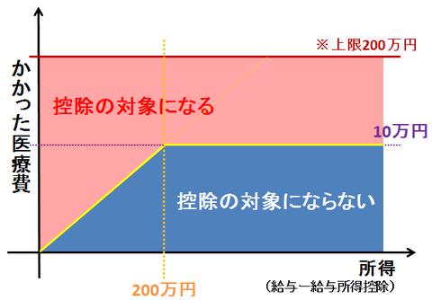医療費控除のグラフ