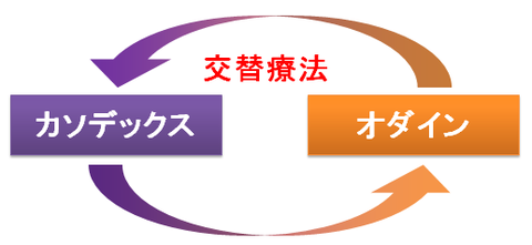 カソデックスとオダイン~交替療法