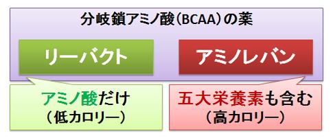 リーバクトとアミノレバン~BCAA製剤の差