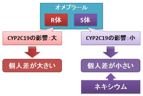 オメプラールのS体とR体~CYP2C19の影響