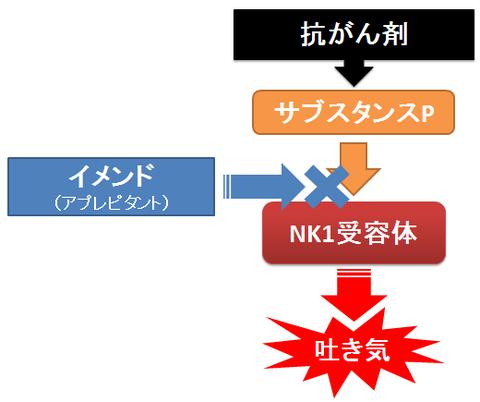 イメンドの作用機序~サブスタンスPとNK1受容体
